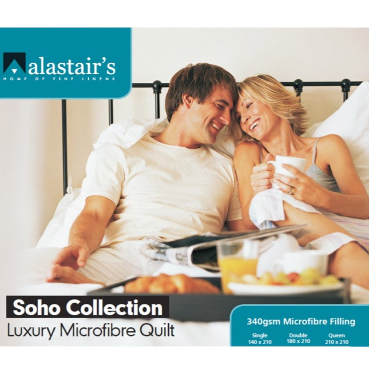 Alastair's Soho Collection Microfibre Quilt