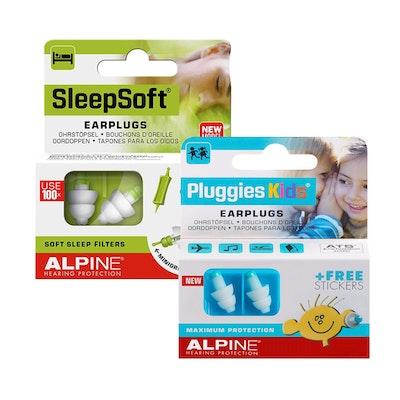 Alpine SleepSoft and Pluggies Kids Reusable Ear Plugs Combo