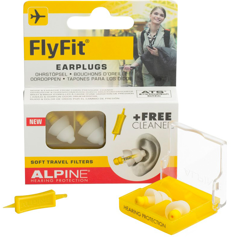 Alpine FlyFit Reusable Earplugs