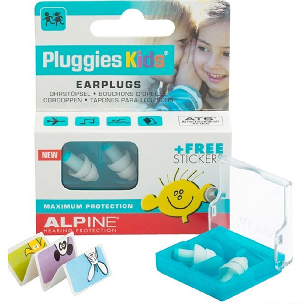 Alpine Pluggies Kids Reusable Ear Plugs