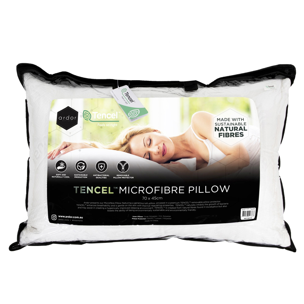 Ardor Home Microfibre Pillow With Tencel Pillow Protector