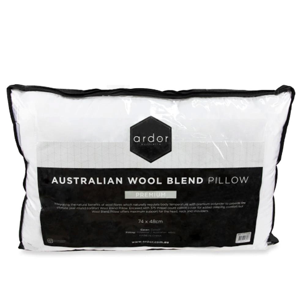 Ardor Premium Australian Wool Blend Pillow