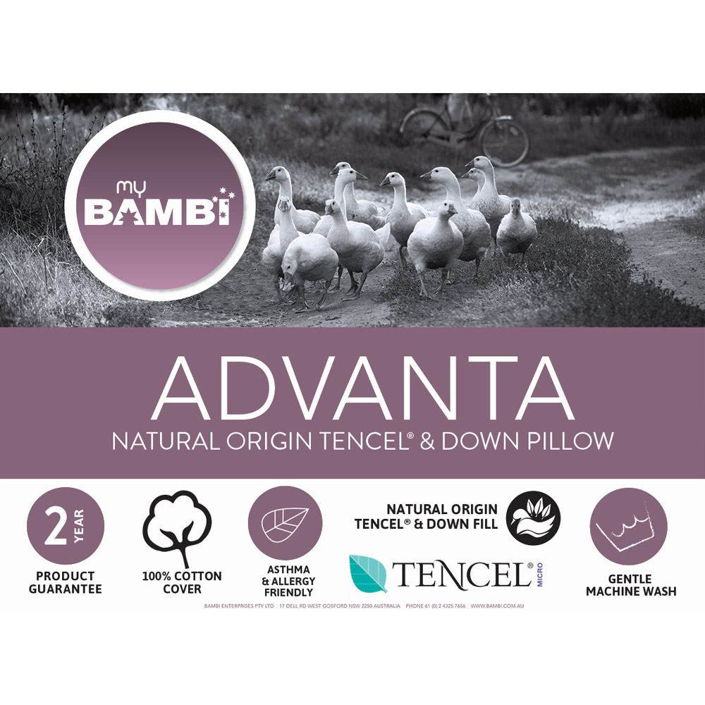 Bambi Advanta Tencel and Goose Down Pillow