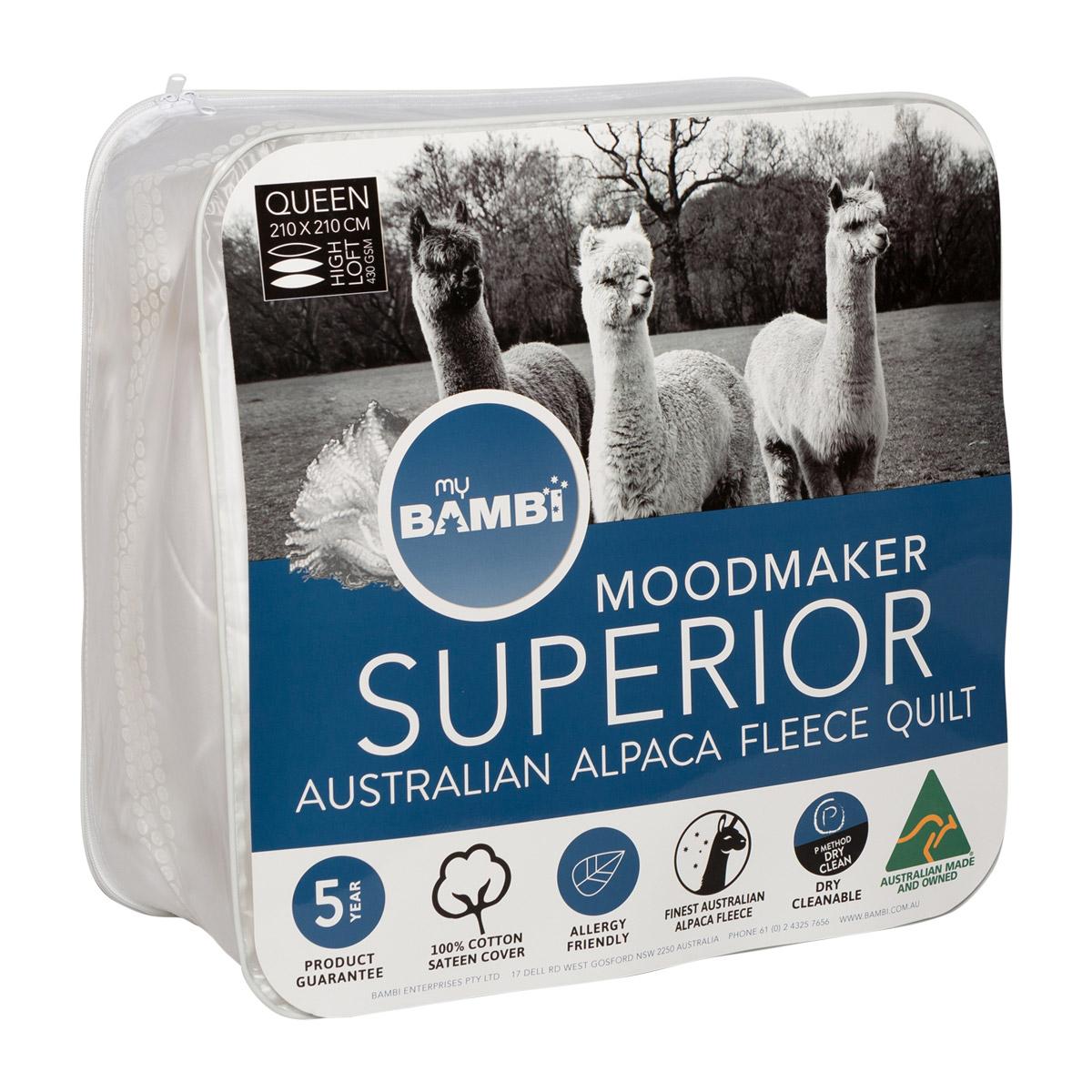 Bambi Luxura Alpaca Fleece Quilt 300 and 430gsm