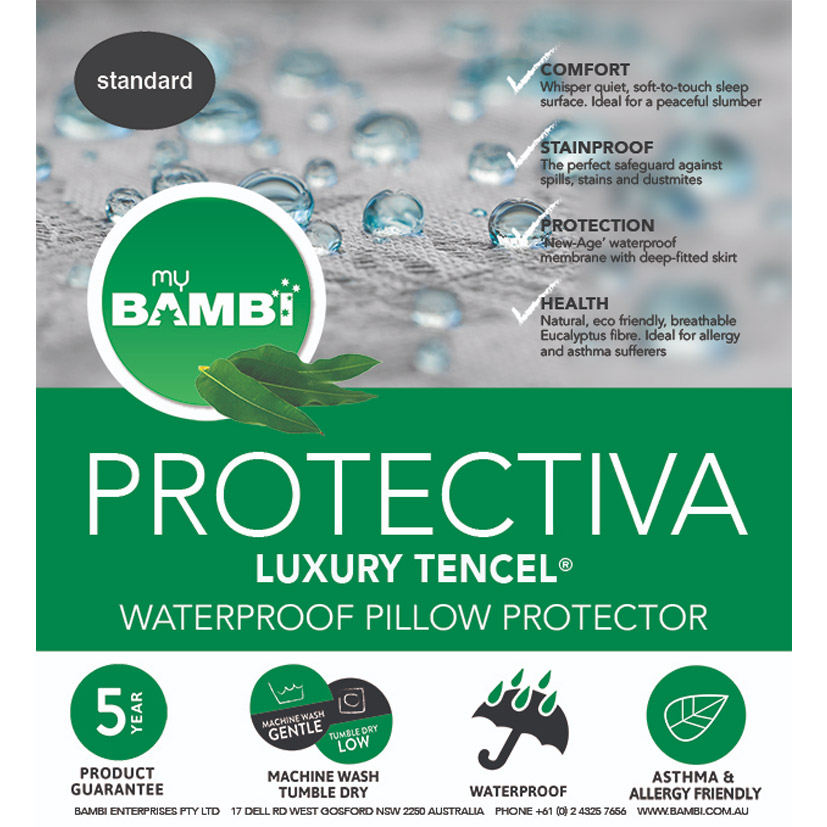 Bambi Protectiva Luxury Waterproof Tencel Pillow Protector