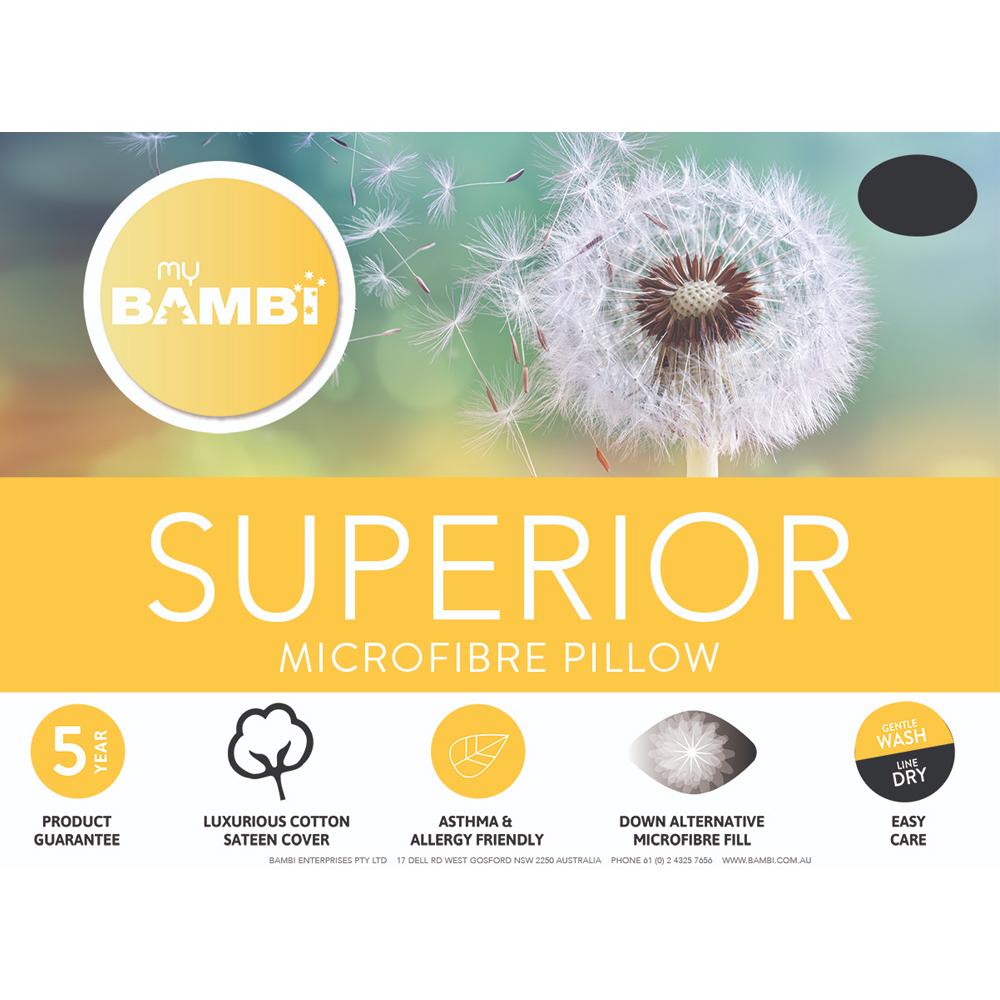 Bambi Standard Size Superior Microfibre Pillow