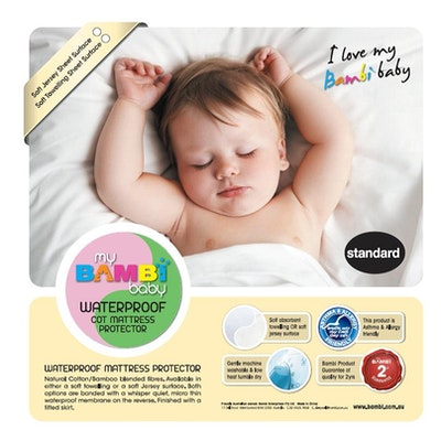 Bambi Baby Waterproof Mattress Protector Standard