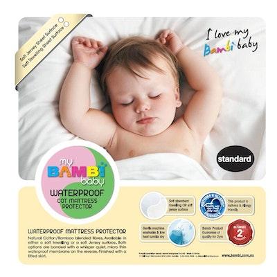 Bambi Baby Soft Jersey Waterproof Cot Mattress Protector