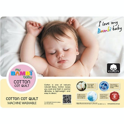 Bambi Baby Cotton Cot Quilt