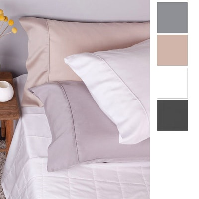 Bambi EcoTouch Tencel Pillow Cases Twin Pack with Swatches