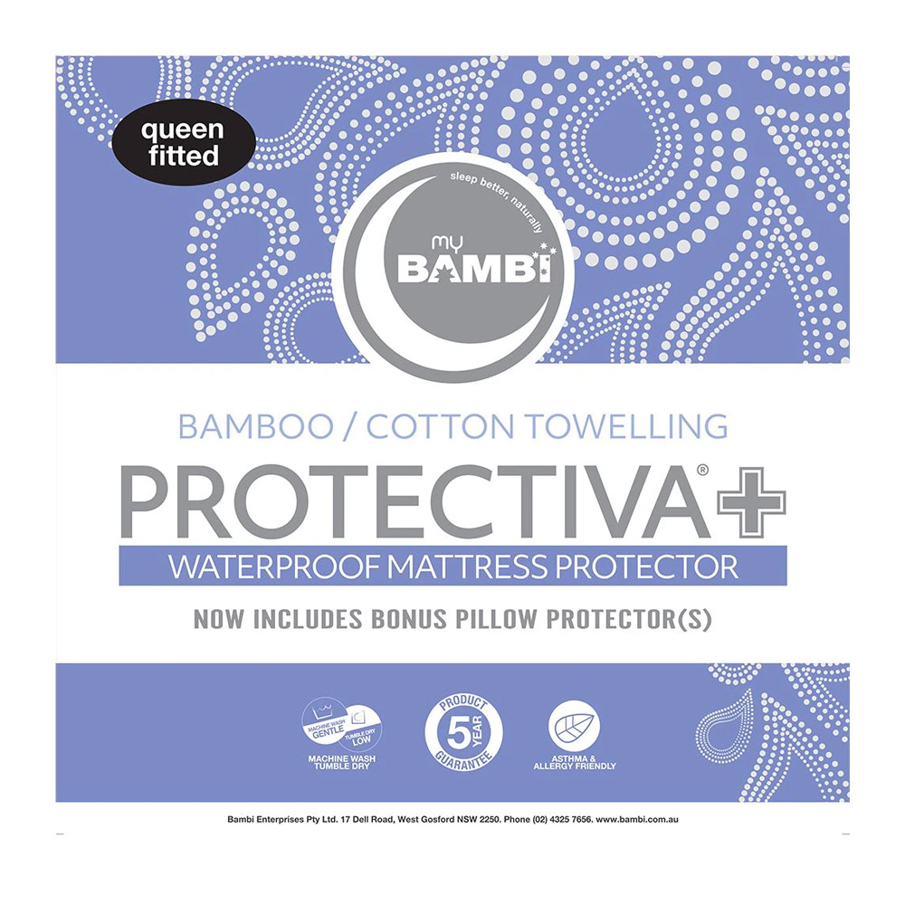 Bambi Protectiva+ Bamboo Cotton Towelling Waterproof Mattress Protector