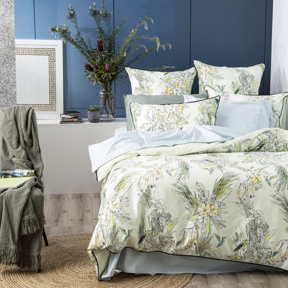 Renee Taylor Botanica 300 Thread Count Cotton Quilt Cover Set