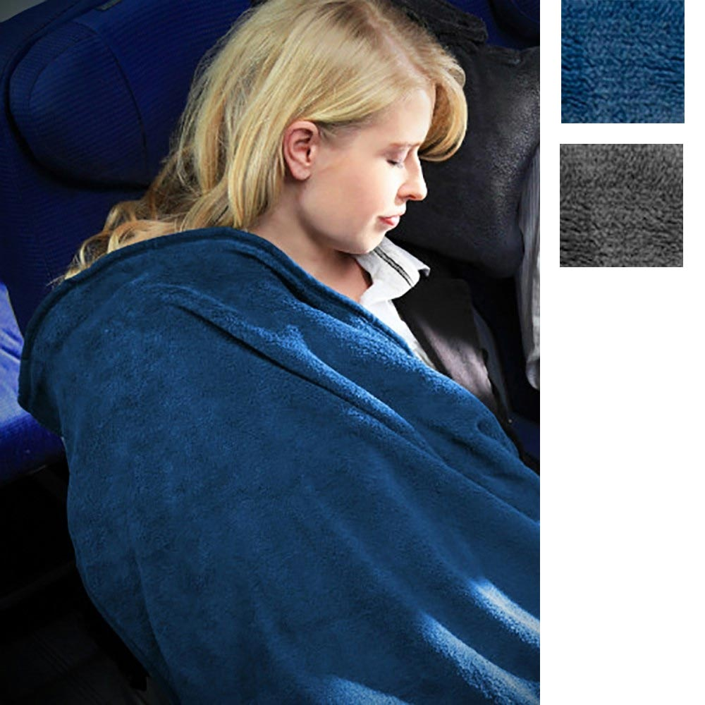 Cabeau 4 in 1 Fold and Go Travel Blanket with Case