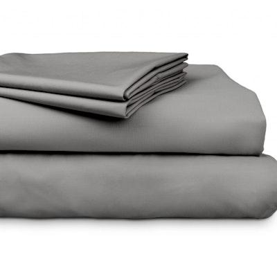 Algodon 300 Thread Count Percale Cotton Sheet Set Grey