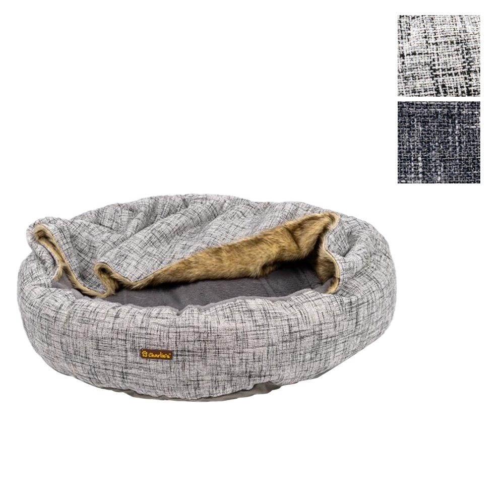 Charlie's Pet VIP Hooded Wolf Round Bed Nest