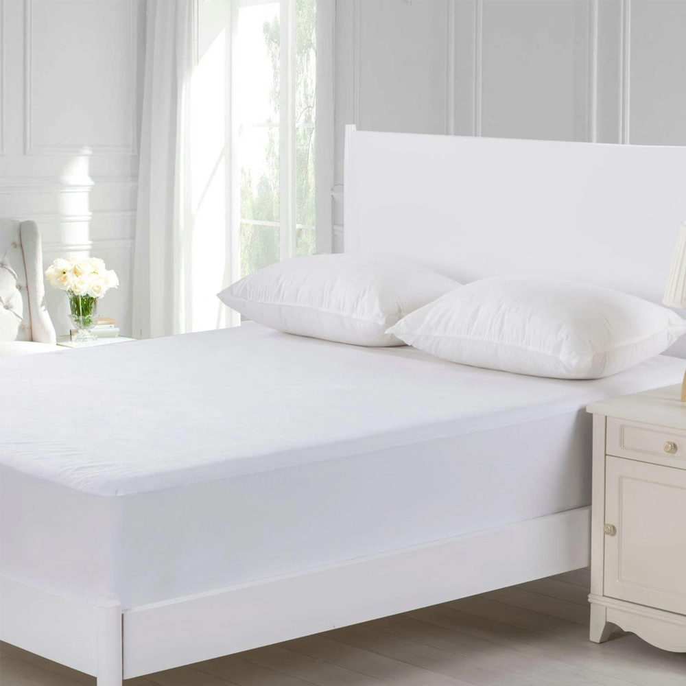 Dreamaker Waterproof Cotton Terry Towelling Mattress Protector