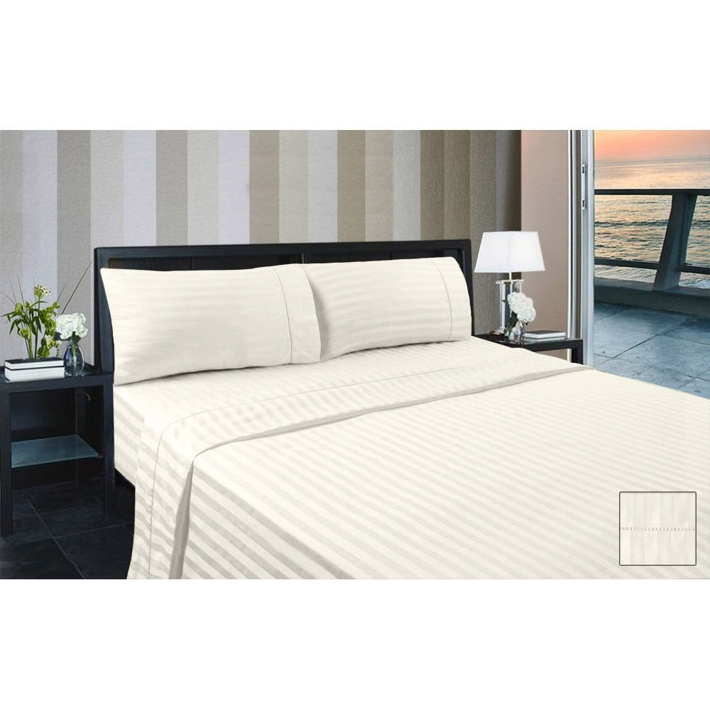 KING SINGLE BED 375THREAD COTTON FITTED SHEET