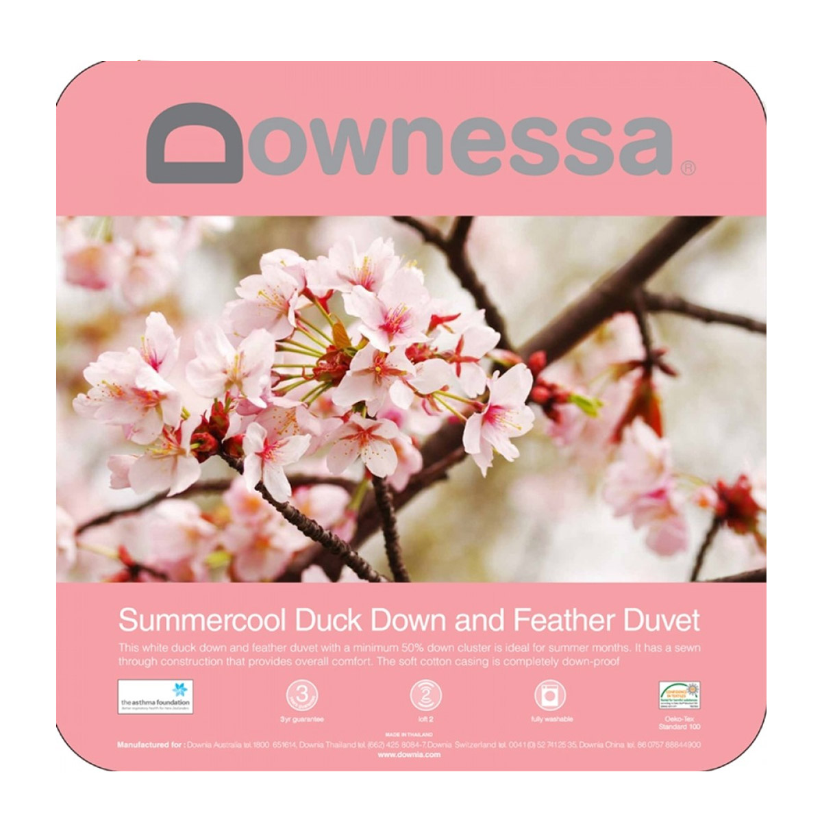 Downessa Summercool White Duck Down and Feather Quilt Duvet