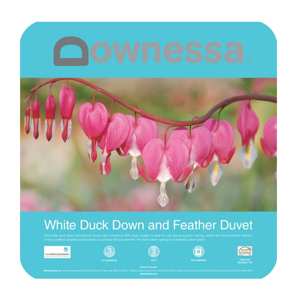 Downessa White Duck Down and Feather Quilt Duvet