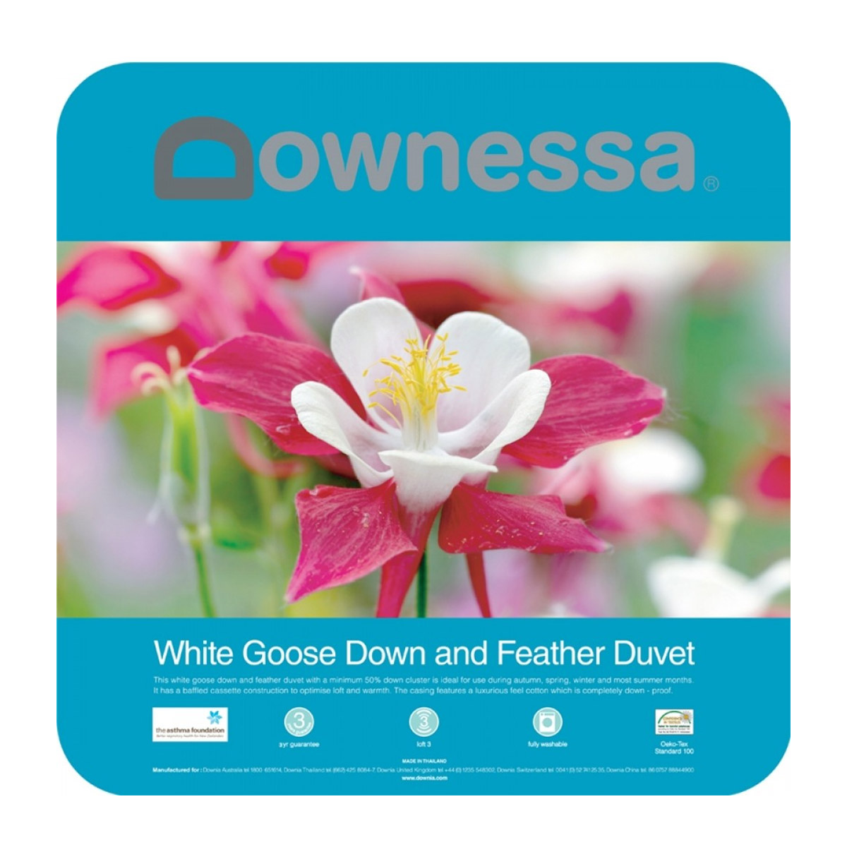 Downessa White Goose Down and Feather Quilt Duvet