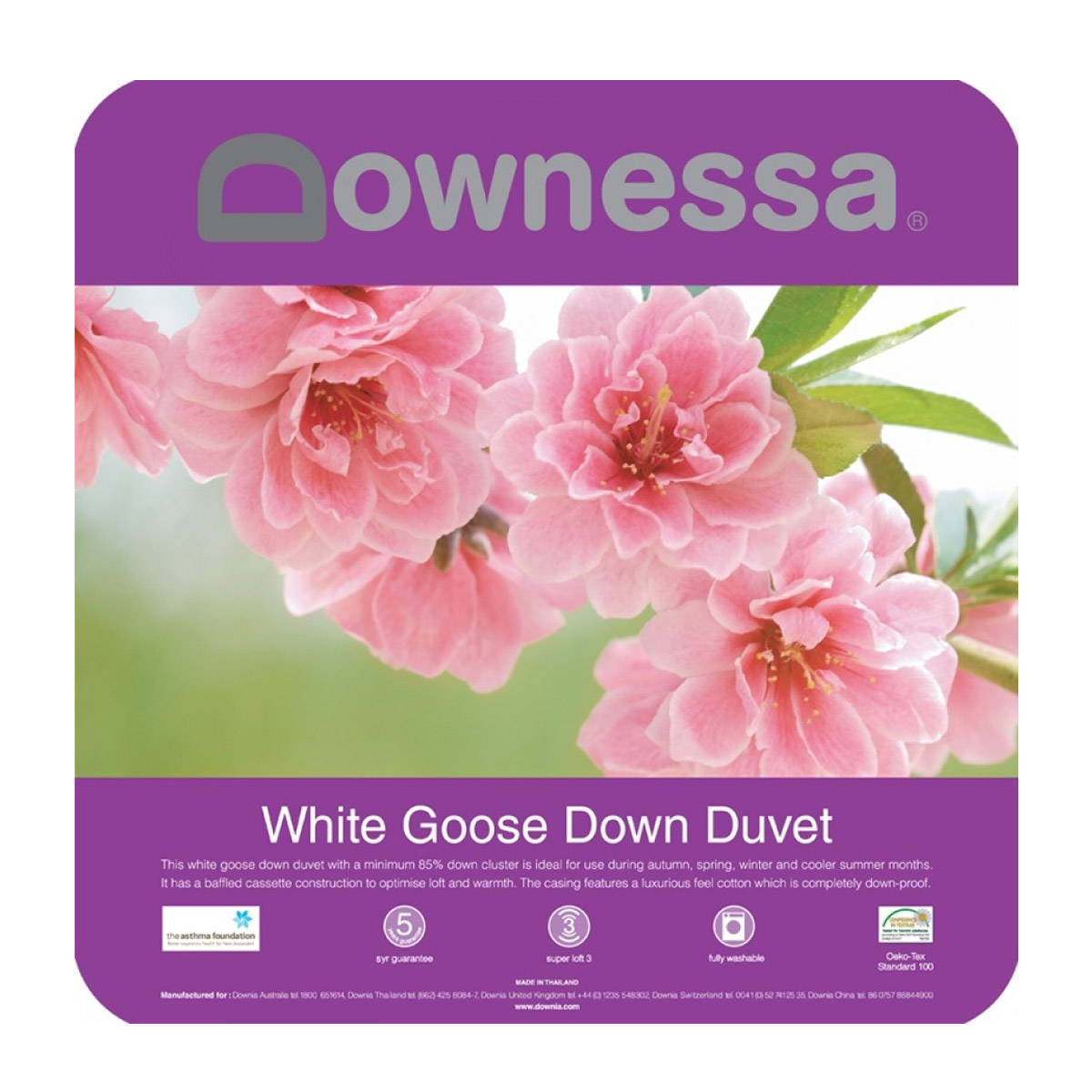Downessa White Goose Down Quilt Duvet