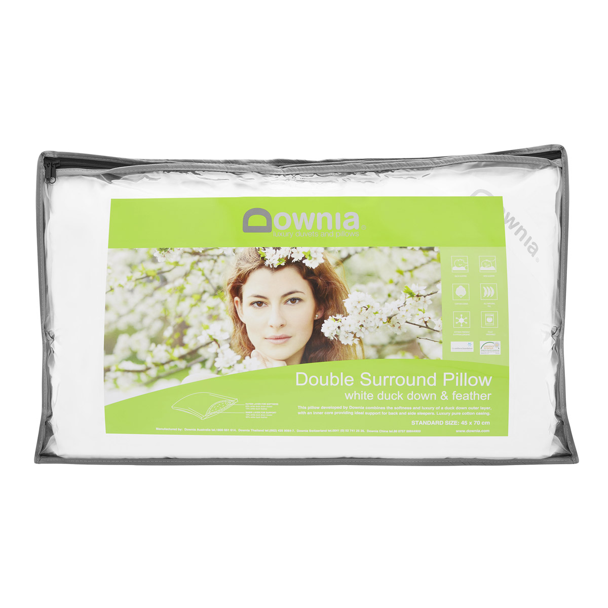 Downia Double Duck Down Surround Standard Pillow