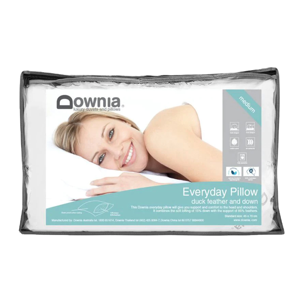 Downia Everyday 85% Duck Feather and Down Pillow