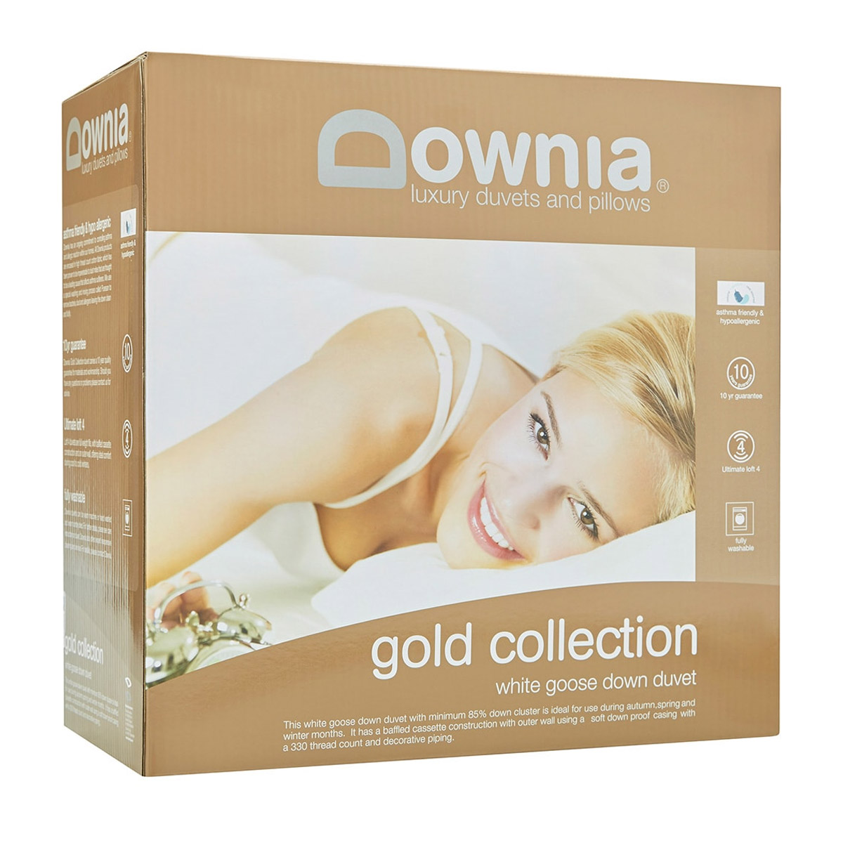 Downia Gold Collection White Goose Down Duvet