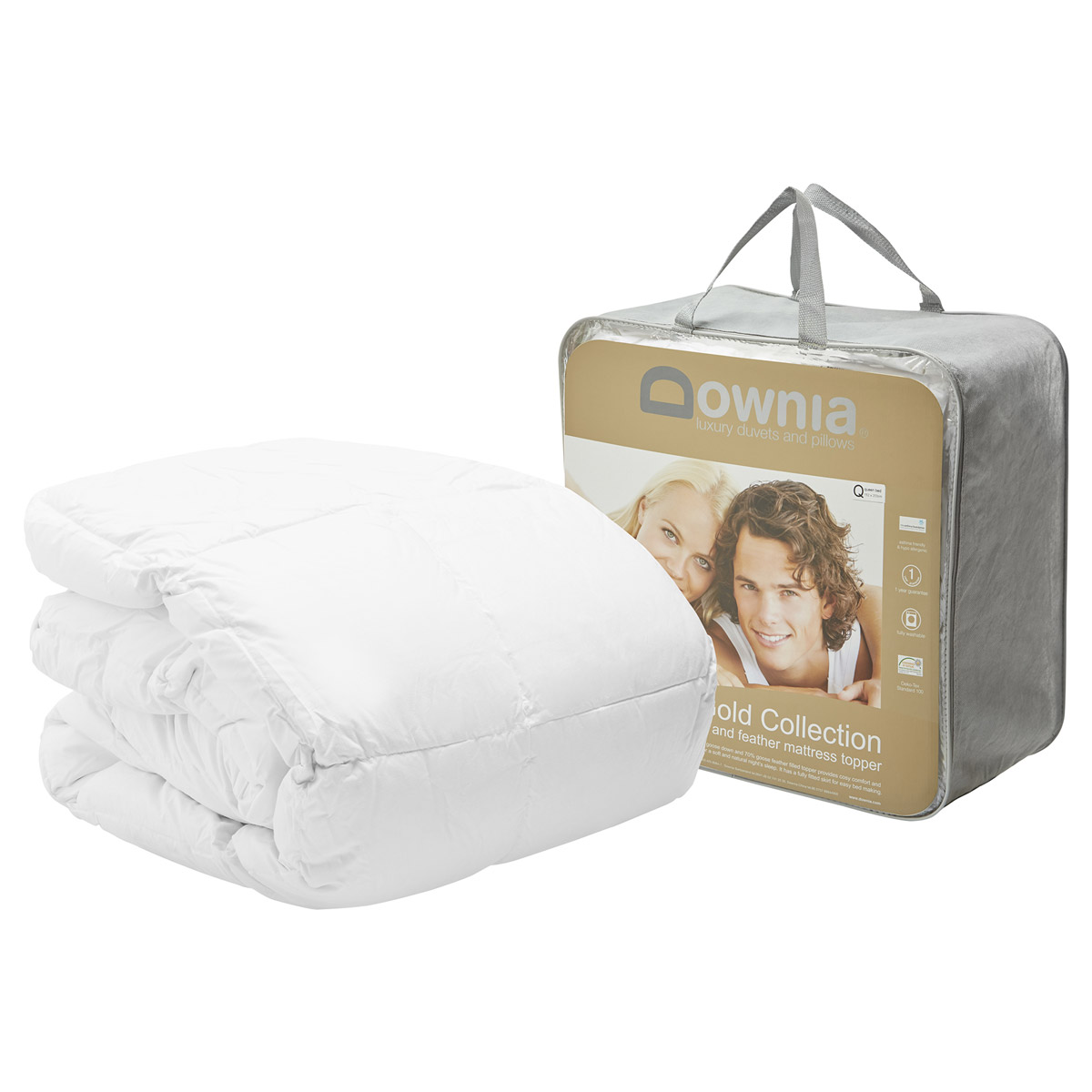 Downia Gold Collection Goose Down and Feather Mattress Topper