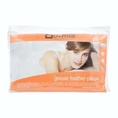 Downia Goose Feather Pillow Side