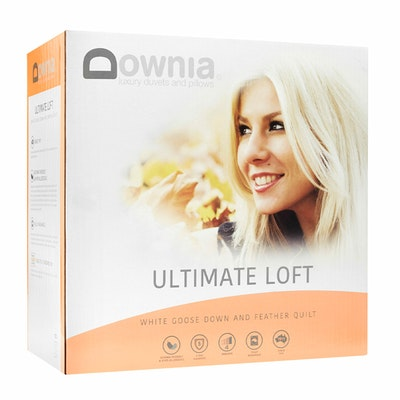 Downia Ultimate Loft 50% White Goose Down and Feather Quilt
