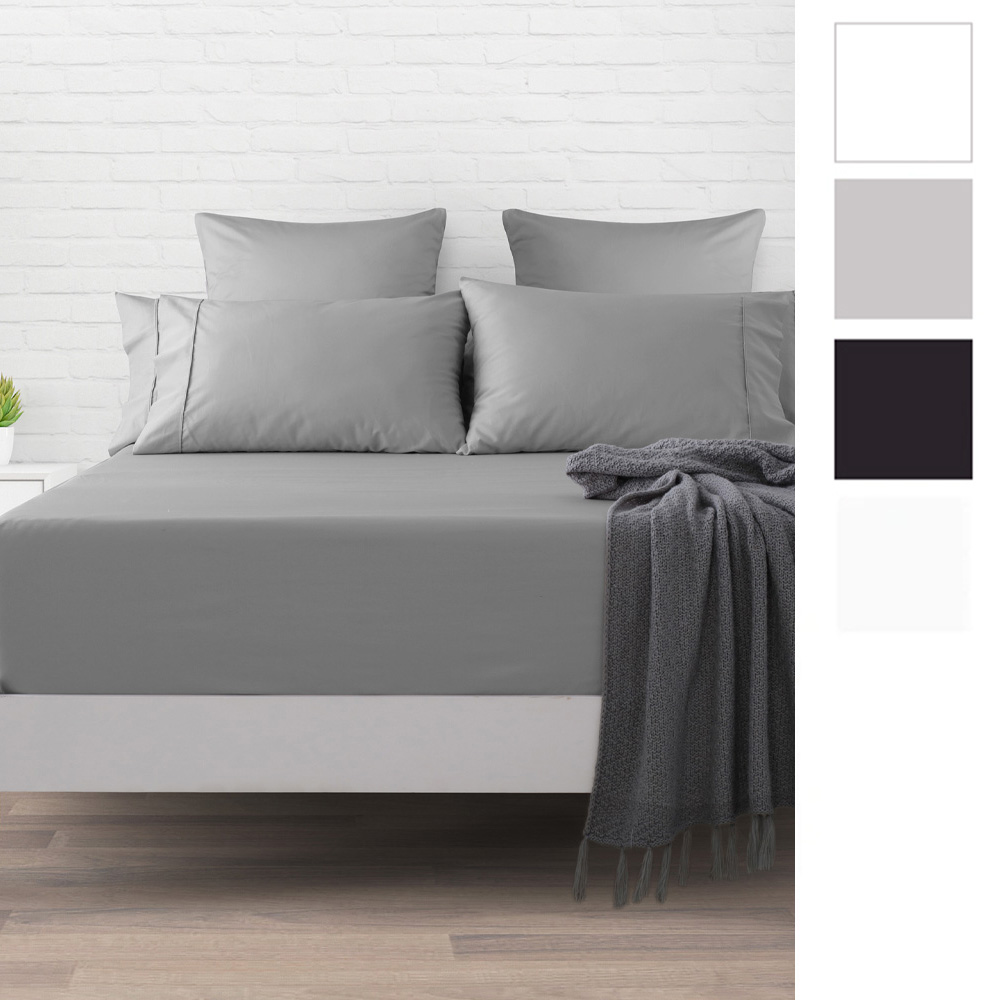 Dreamaker 500 Thread Count Cotton Sateen Fitted Sheet