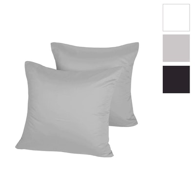 Dreamaker 500 Thread Count Cotton Sateen Euro Pillowcases Twin Pack Swatch