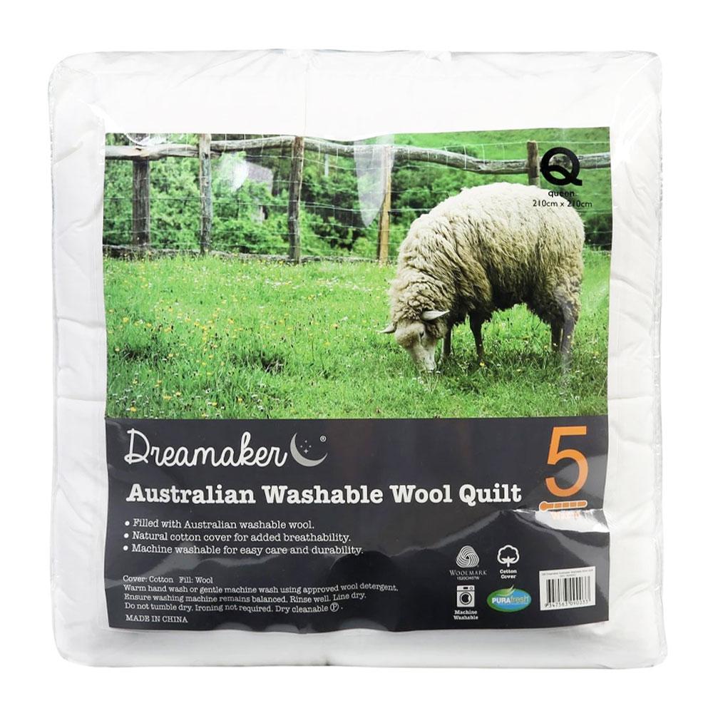 Dreamaker Washable Winter Weight Australian Wool Quilt 500gsm