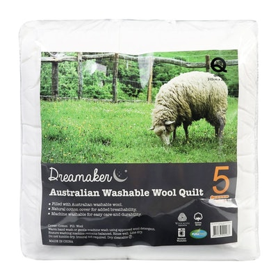 Washable Winter Weight Australian Wool Quilt 500gsm Packaging
