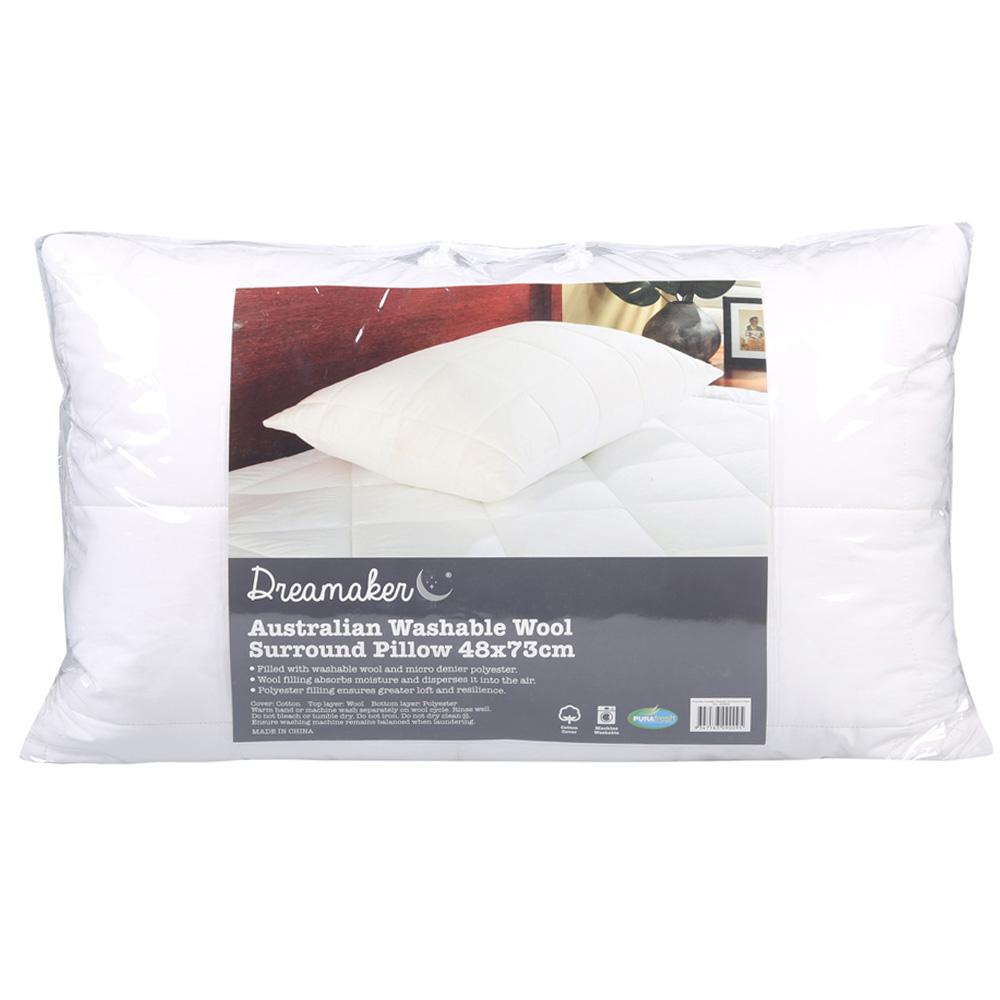 Dreamaker Washable Australian Wool Surround Pillow