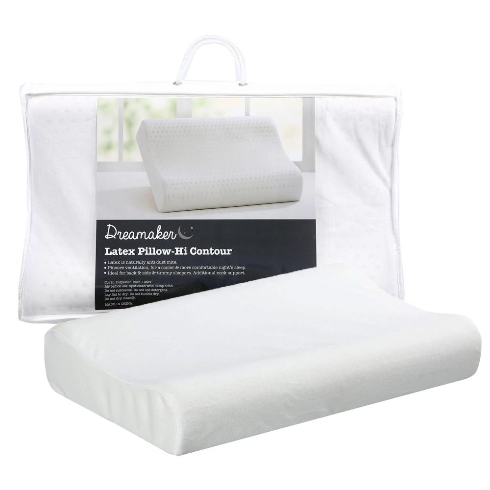 Contoured Ventilated Natural Latex Pillow