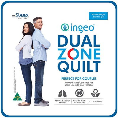 Couples Dual Zone Ingeo Summer Quilt