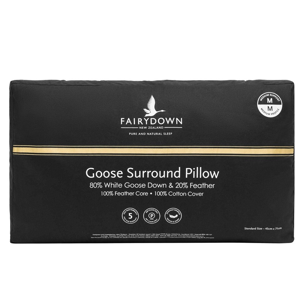 Fairydown Surround 80% White Goose Down Pillow