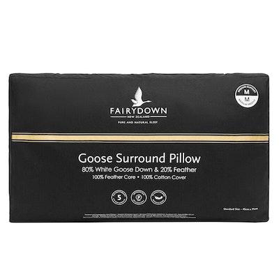 Fairydown Surround 80% White Goose Down Pillow Packaging