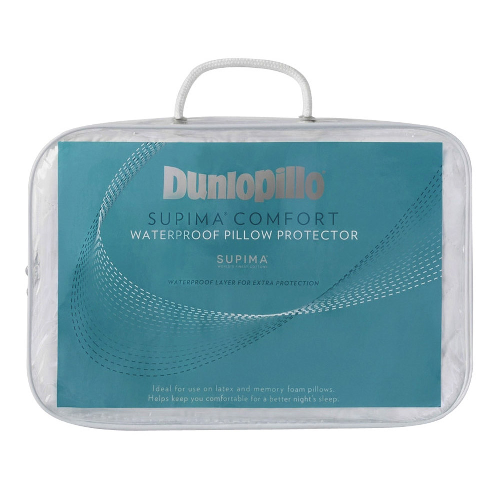 Dunlopillo Supima 100% Quilted Cotton Waterproof Pillow Protector