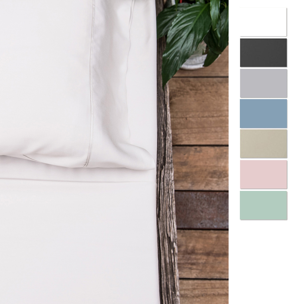 Eastwind Sateen Organic Bamboo Pillow Cases Set