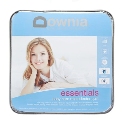 Downia Essentials Easy care Microdenier Quilt Packaging
