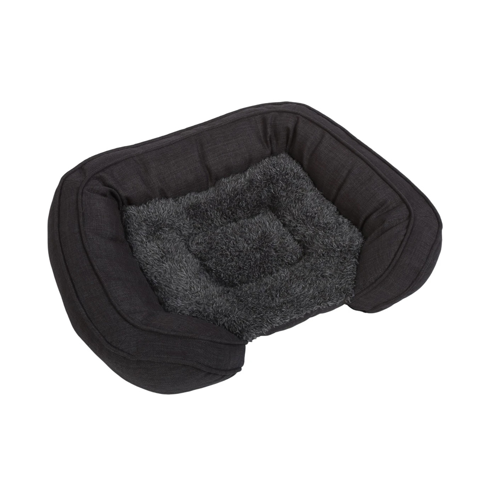 Charlie's Pet Faux Fur Bed With Padded Bolster
