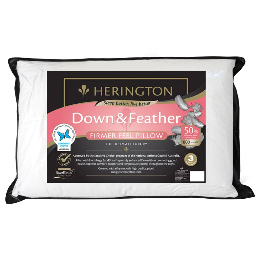 Herington Luxury 50% White Goose Down and Feather Pillow