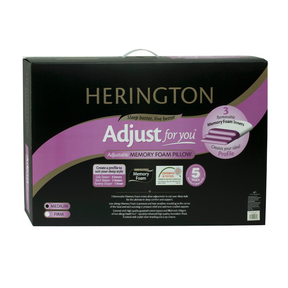 Herington Adjustable Height Memory Foam Pillow