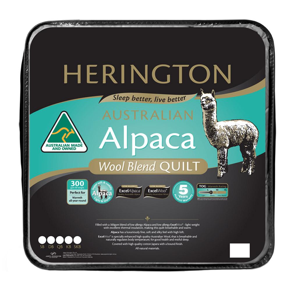 Herington Australia Wool Blend Alpaca Quilt