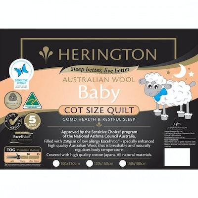 Herington Wool Baby Cot Quilt