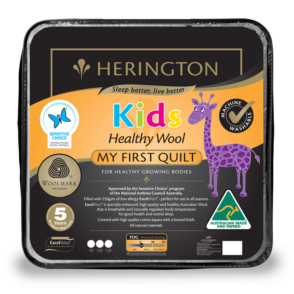 Herington My First Healthy Kids Wool Quilt
