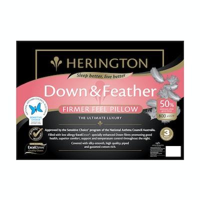 Herington Luxury 50% White Goose Down and Feather King Pillow